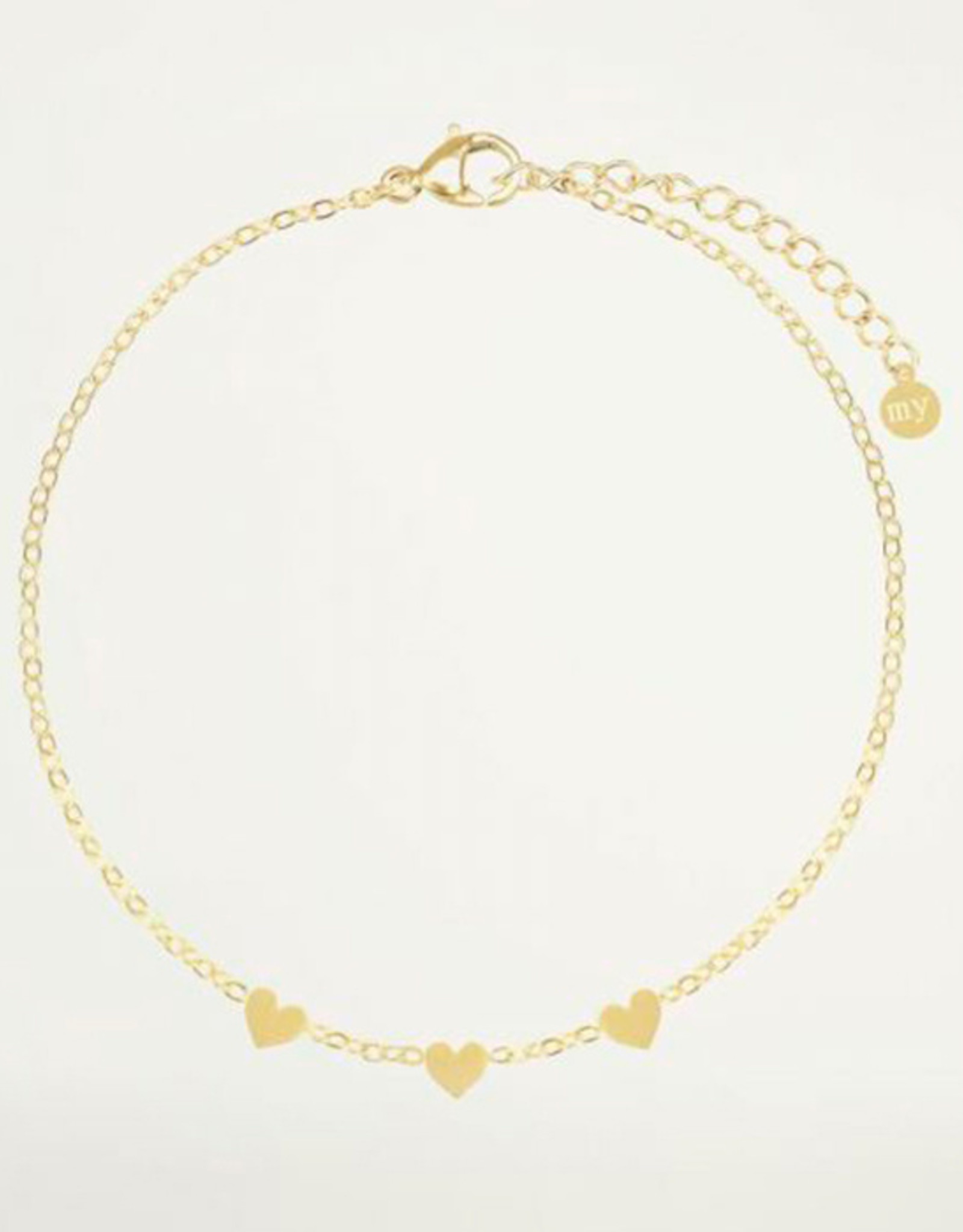 My Jewelry Armband 3 little Hearts-gold