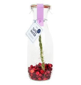 Pineut Pineut Tafelwater Kers/Cranberry/Rozemarijn-Karaf 750ML