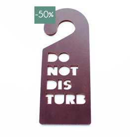 Doorhanger DISTURB-chocolate brown