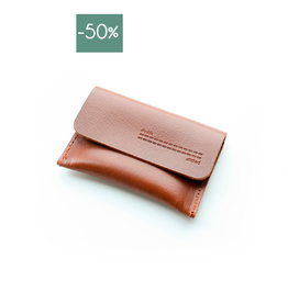 Card Holder Flap-cognac