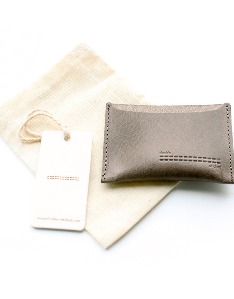 Double Stitched Card Holder-concrete