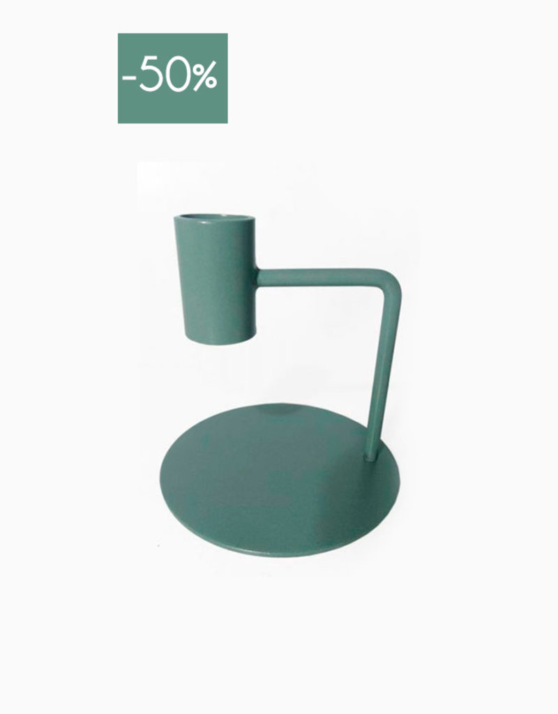Candle Holder Curve 10cm-green