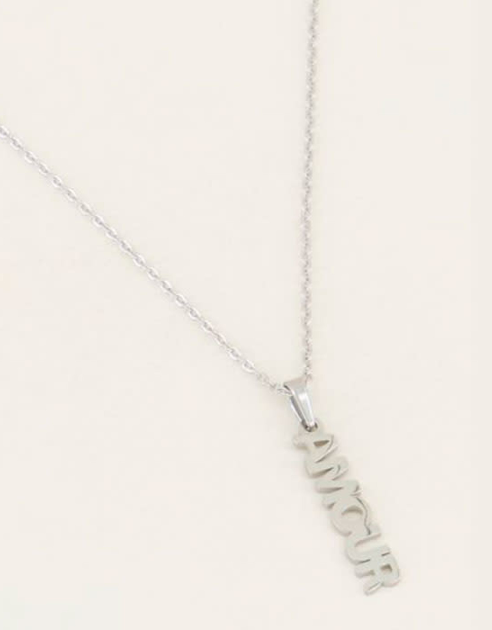 My Jewelry Ketting Amour-silver