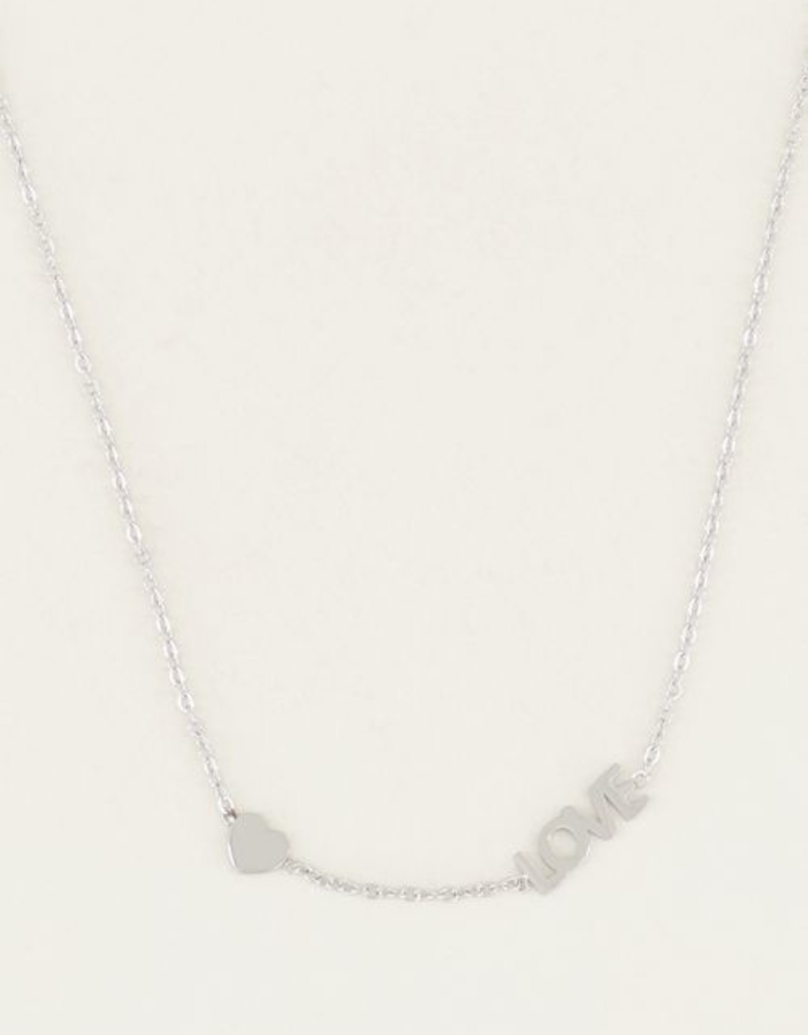 My Jewelry Ketting Love & Heart-silver