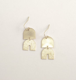 Iniminihomemade Oorbellen Brass Elephant Dangle-gold