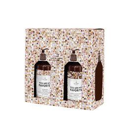 The Gift Label Giftbox Valentine-You are my favorite (handzeep & bodywash)