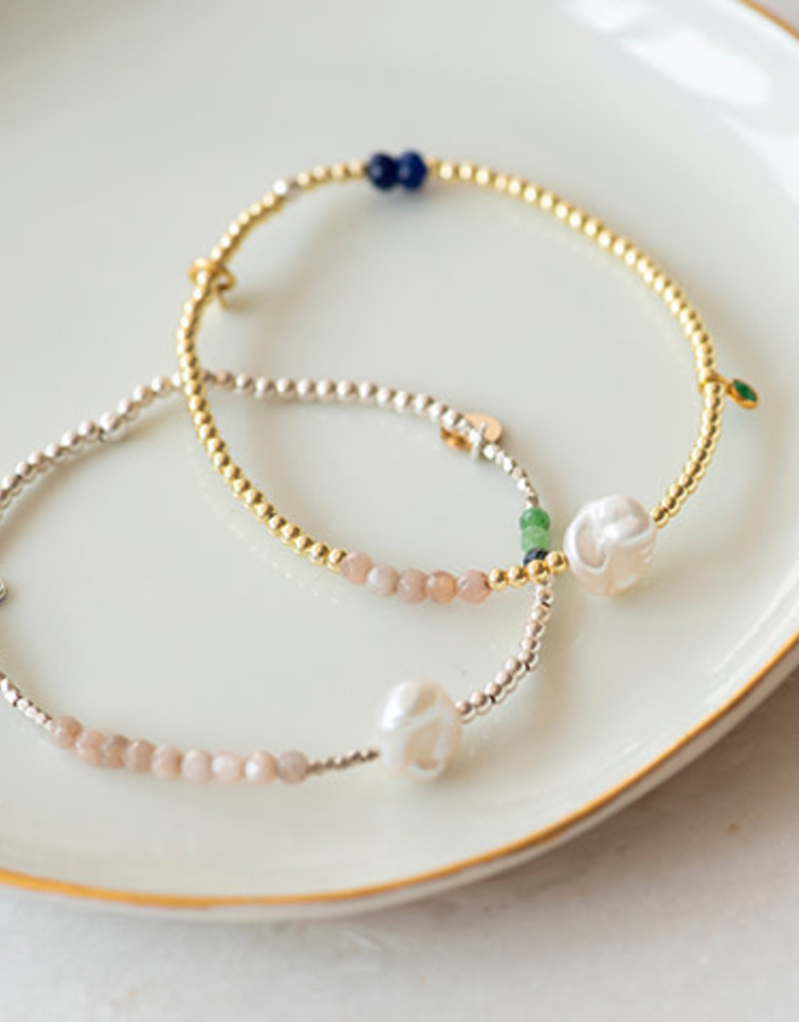 Jules Bean Armband Collectabean Ella-gold/mix gems/pearl