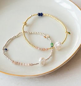 Jules Bean Armband Collectabean Ella-sterling silver/mix gems/pearl