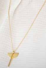Jules Bean Ketting kort Bloom-gold vermeil