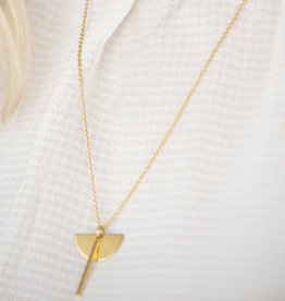 Jules Bean Ketting kort Bloom-gold vermeil