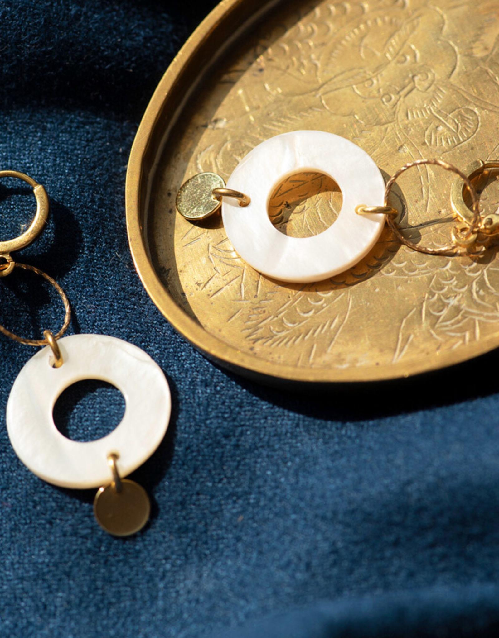 Jules Bean Oorbellen Suz Pearl-gold/pearl