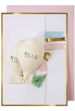 Meri Meri Wenskaart balloon-Mr. & Mrs.