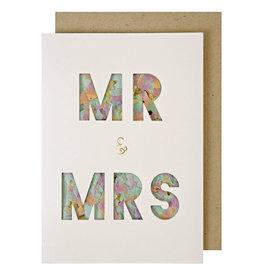 Meri Meri Wenskaart confetti-Mr. & Mrs.
