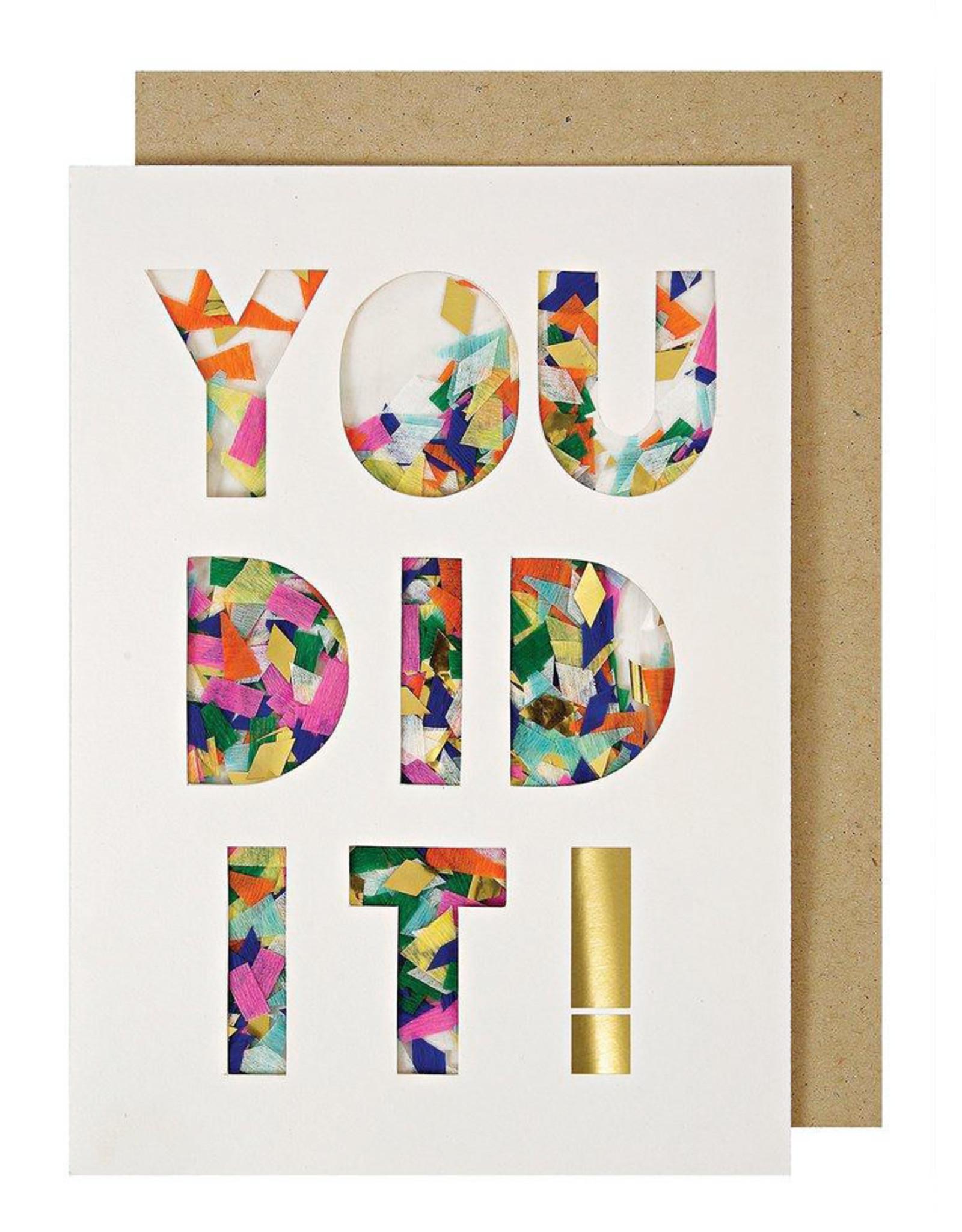 Meri Meri Wenskaart confetti-You dit it!