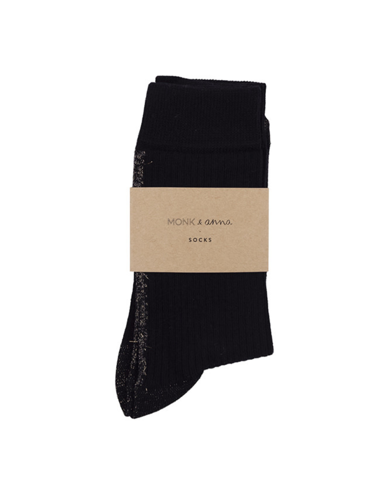 Monk & Anna Socks WOMAN Glitter Line-black