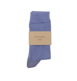 Monk & Anna Socks WOMAN Glitter Line-faded blue