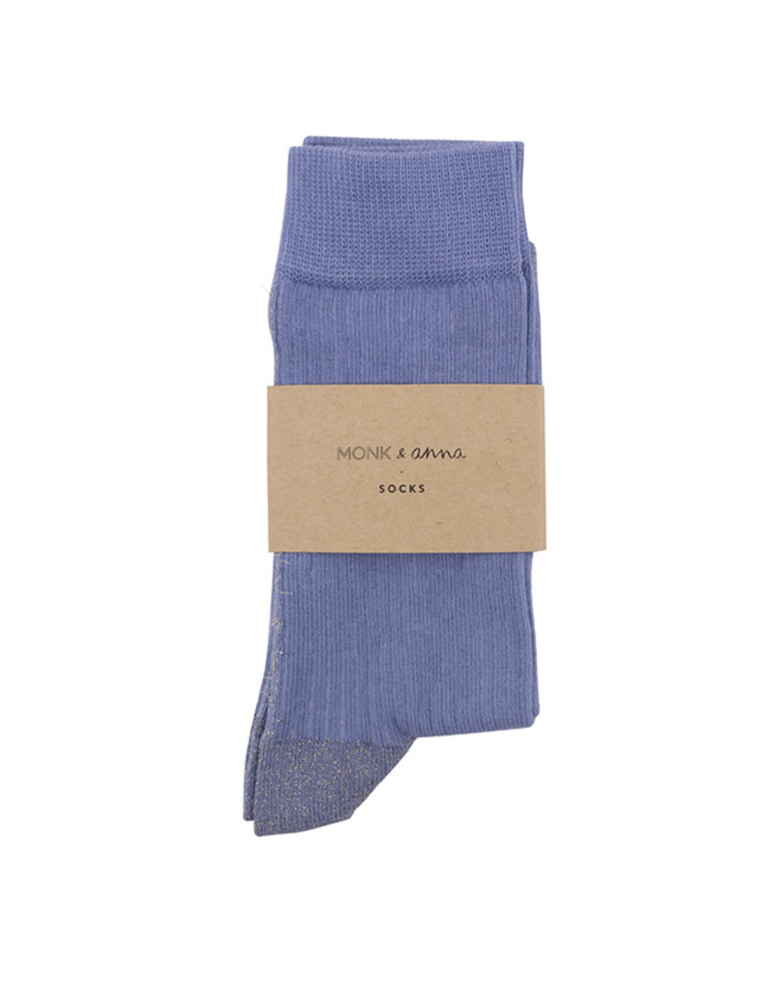 Monk & Anna Socks WOMAN Glitter Line-faded blue