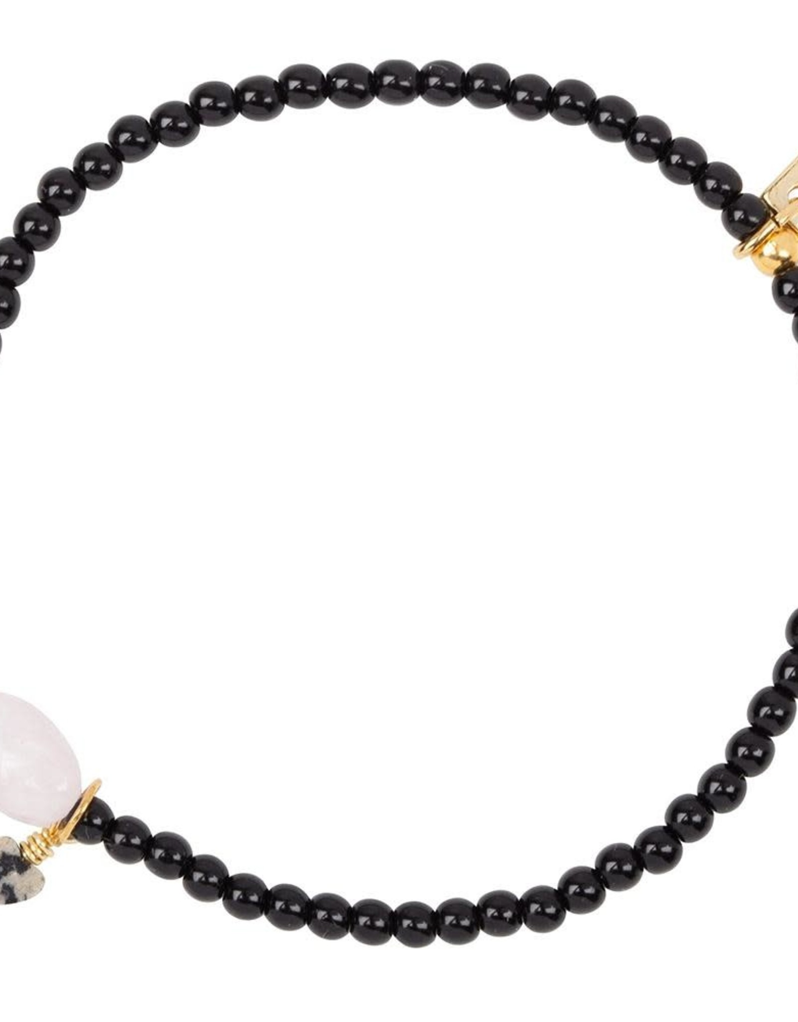 Jules Bean Armband Collectabean Lola Lilly-black/Kunziet/Dalmatier Jaspis