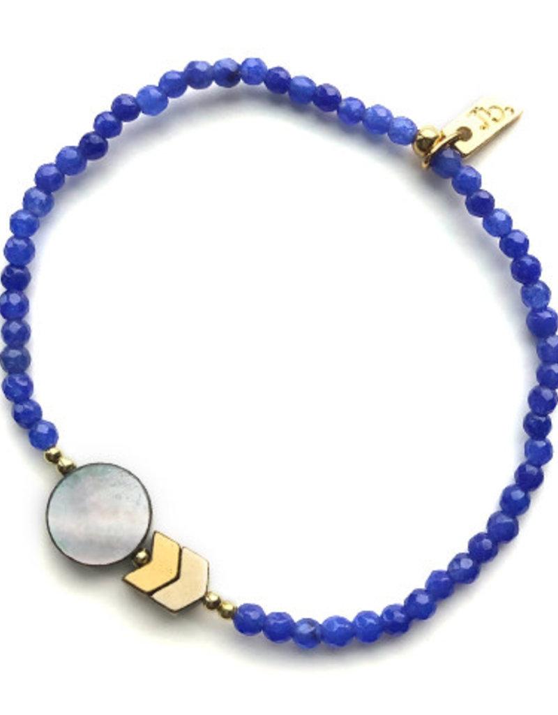 Jules Bean Armband Collectabean Batman-blue/abalone/hematite
