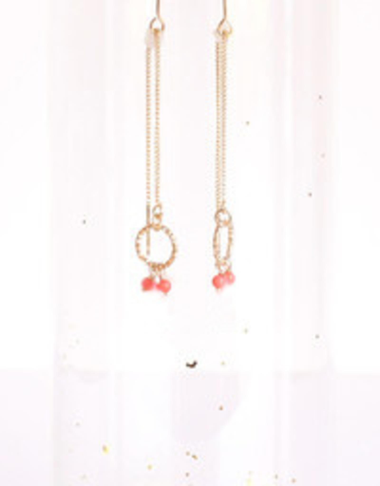 Oorbellen Fanny Collection-rose/red (doortrek)