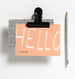 Hello August Wenskaart-Hello little girl