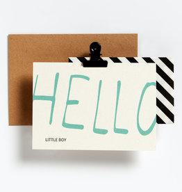Hello August Wenskaart-Hello little boy