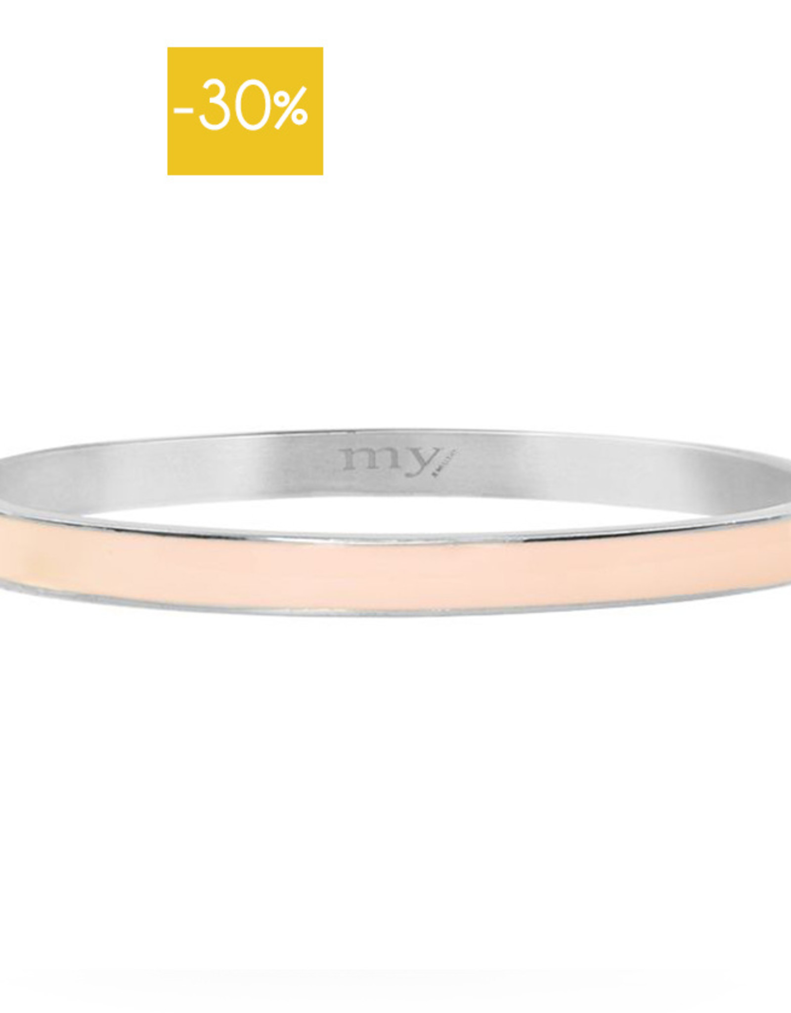 My Jewelry Bangle Summer 5mm-roze/silver