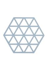 Onderzetter Triangles-light grey silicone