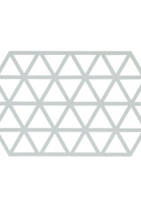 Onderzetter Triangles Large-light grey silicone