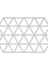 Onderzetter Triangles Large-warm grey silicone