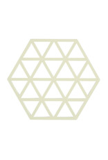 Onderzetter Triangles-creme silicone