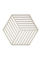 Onderzetter Hexagon-creme silicone
