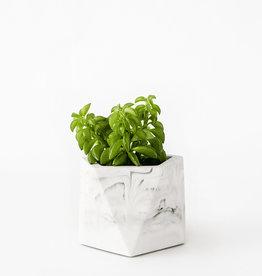 House Raccoon Pot MARE Medium-white marble