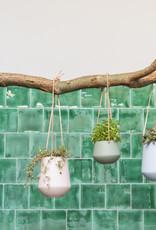 Hanging pot Skittle LARGE-white