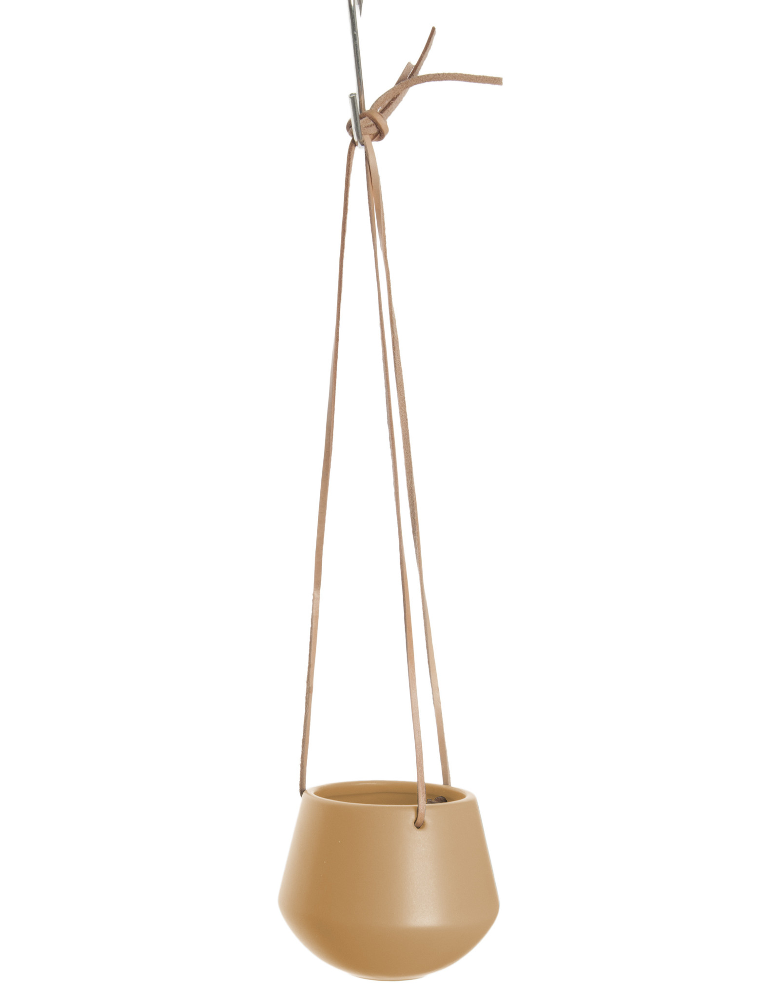 Hanging pot Skittle SMALL-sand brown