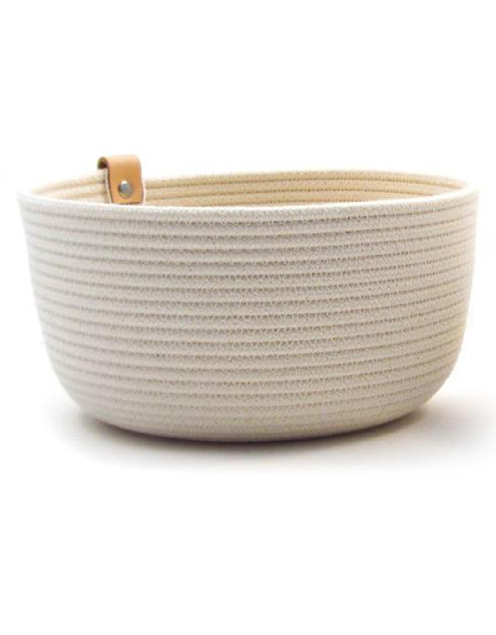 Koba Handmade Bowl Large High-ecru 25x12cm