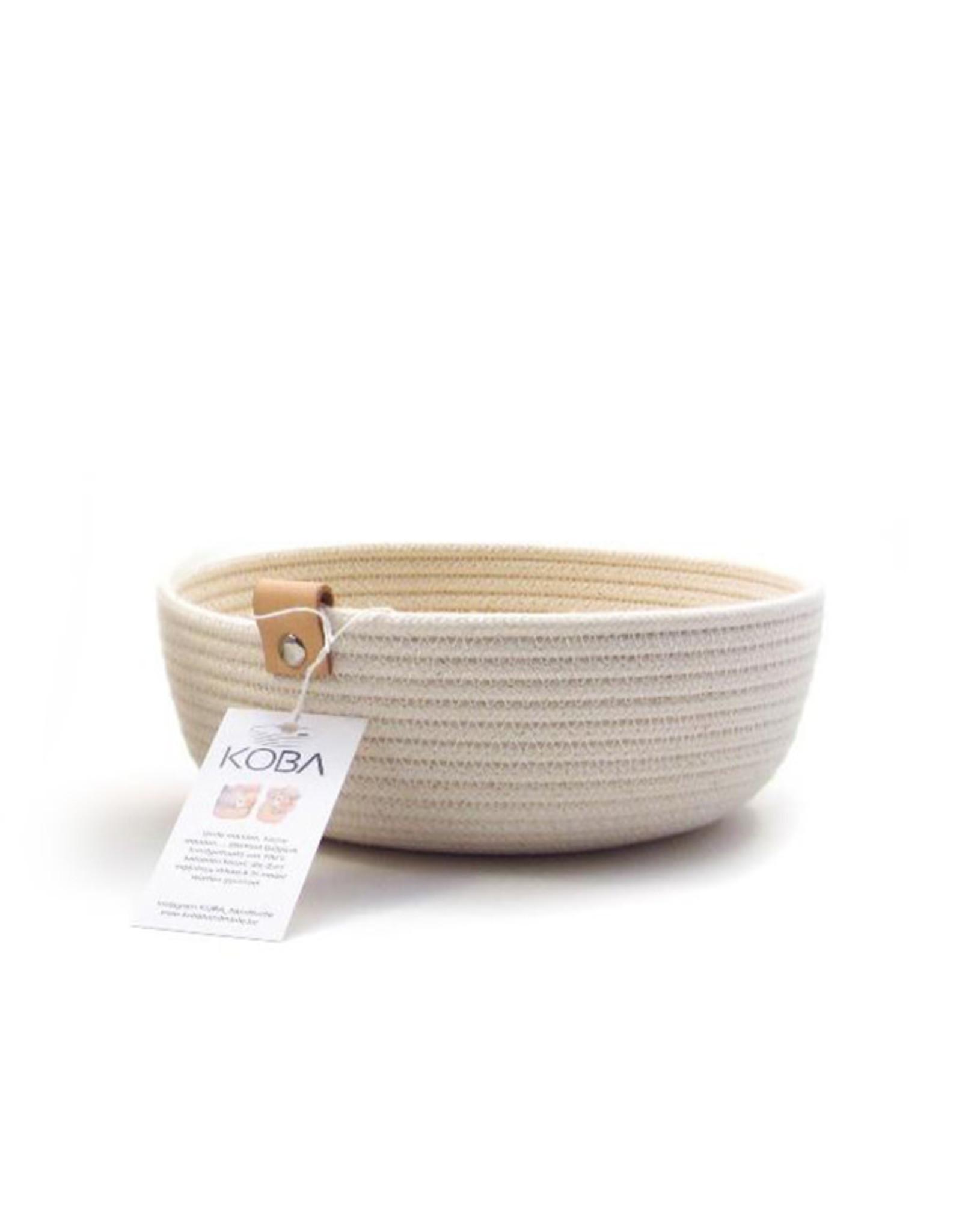 Koba Handmade Bowl Medium Low-ecru 25x7cm