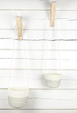 Koba Handmade Hanging Planter Large-black 12x18cm