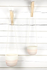 Koba Handmade Hanging Planter Large-bordeaux salmon 12x18cm