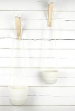 Koba Handmade Hanging Planter Large-shades of grey 12x18cm