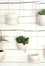 Koba Handmade Hanging Planter Medium-shades of grey 9x14cm