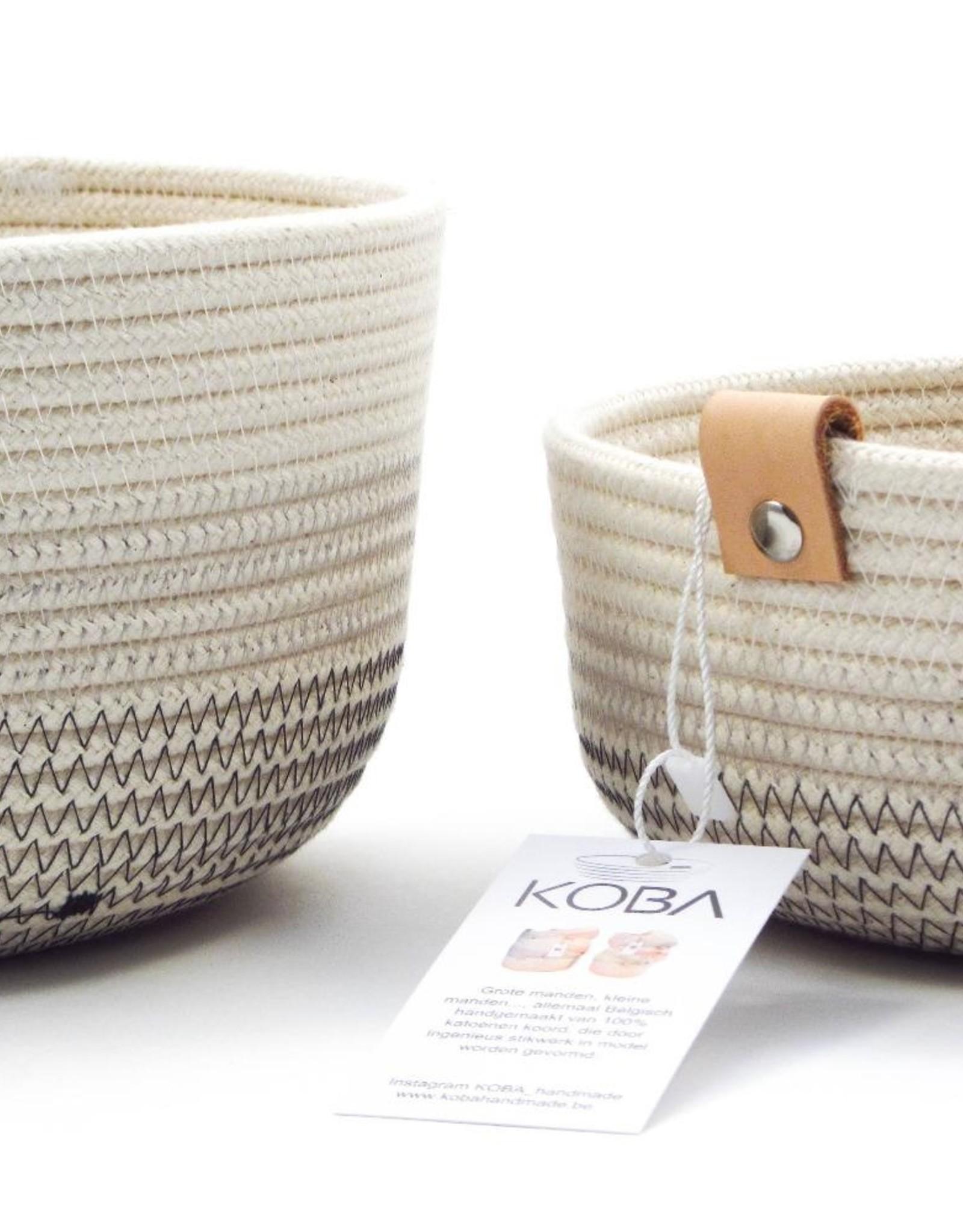 Koba Handmade Bowl Large High-shades of grey 25x12cm