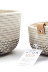 Koba Handmade Bowl Small Low-shades of grey 18x7cm
