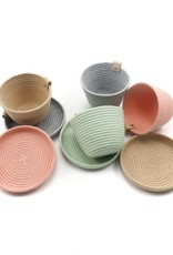Koba Handmade Mini Bowl Low-pastel grey 15x2cm