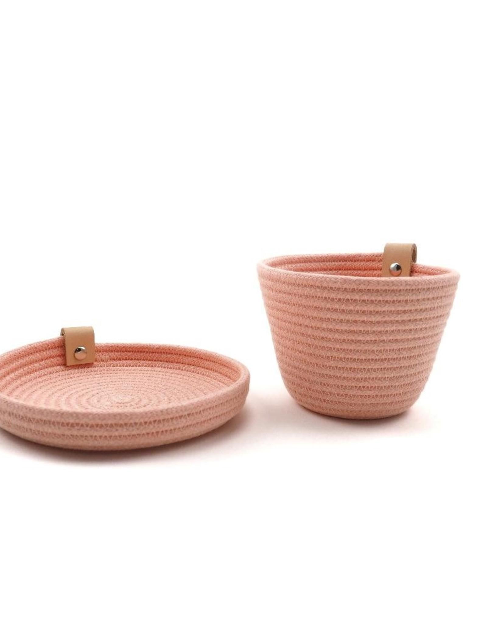 Koba Handmade Mini Bowl Low-pastel rose 15x2cm