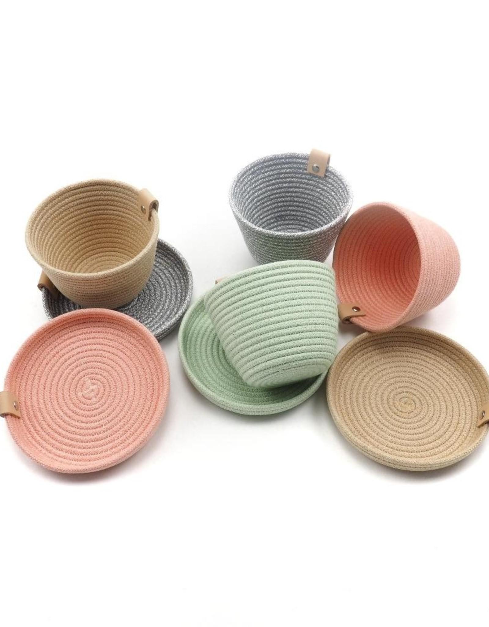 Koba Handmade Mini Bowl Low-ecru 15x2cm