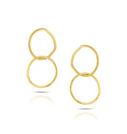 Iniminihomemade Oorbellen Basic Linking Studs-gold