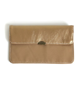 Flat Wallet-shiny bronze