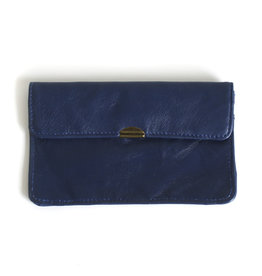 Flat Wallet-dark blue