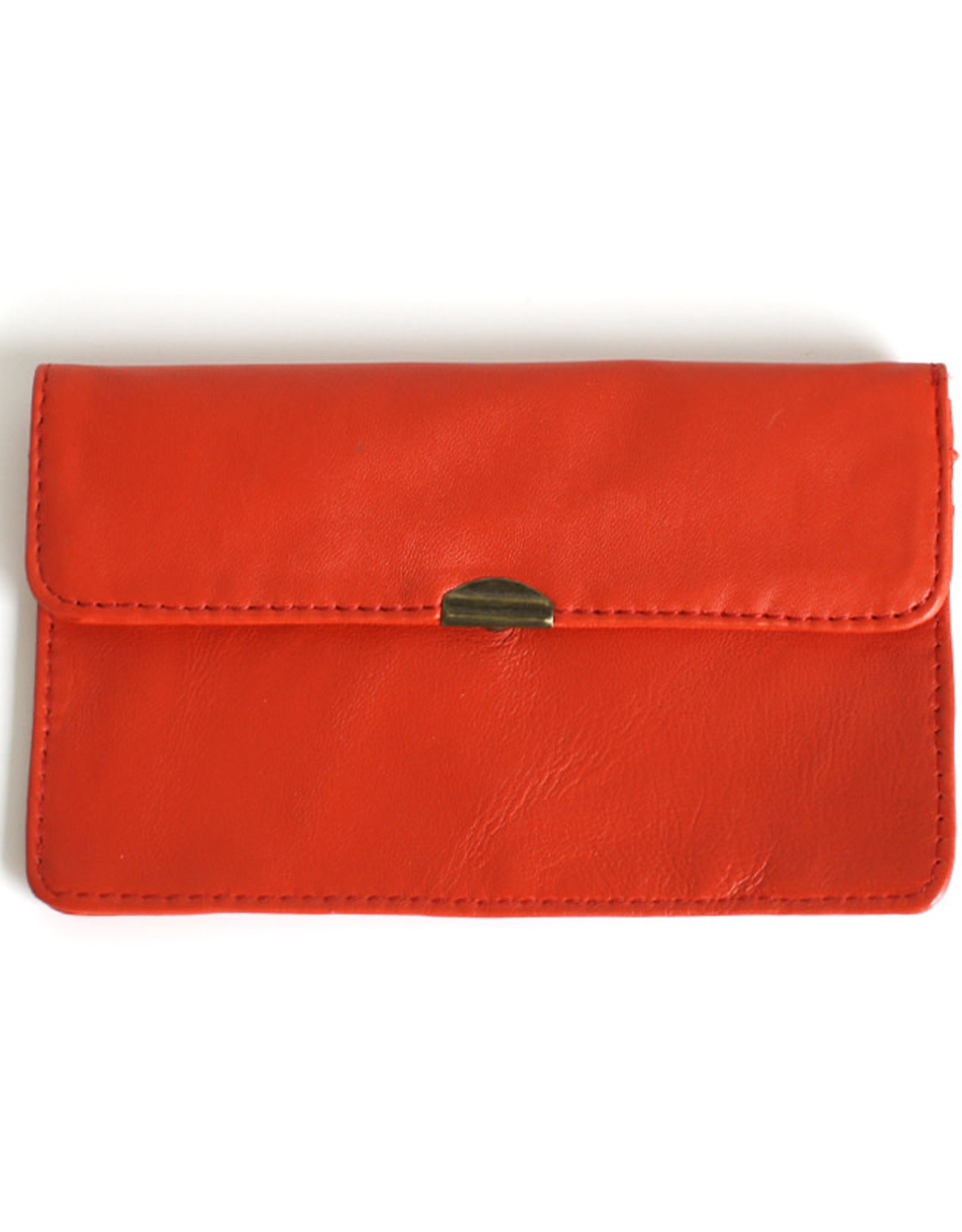 Flat Wallet-coral red
